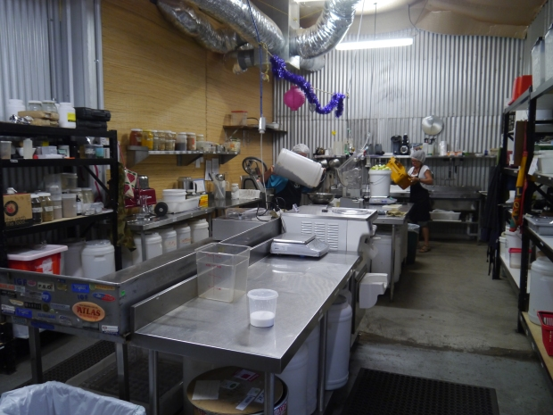 The production kitchen