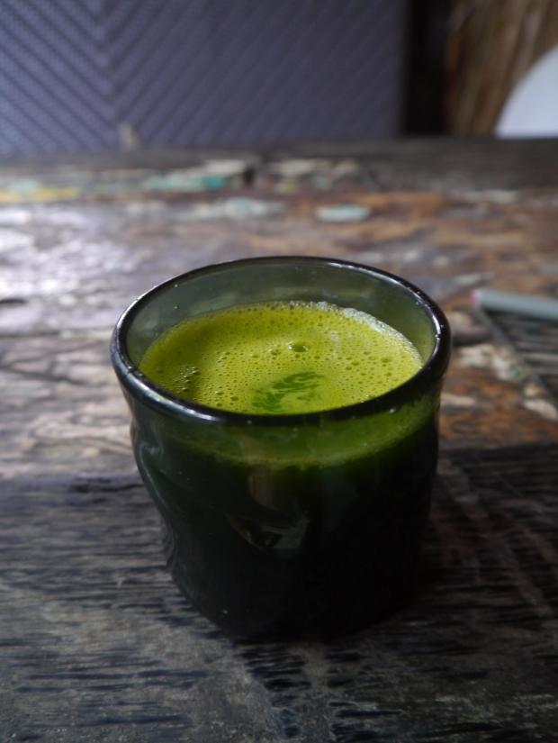 Edgy veggie green juice