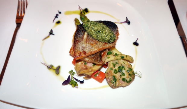 The scrumptious fillet of Sea Bass