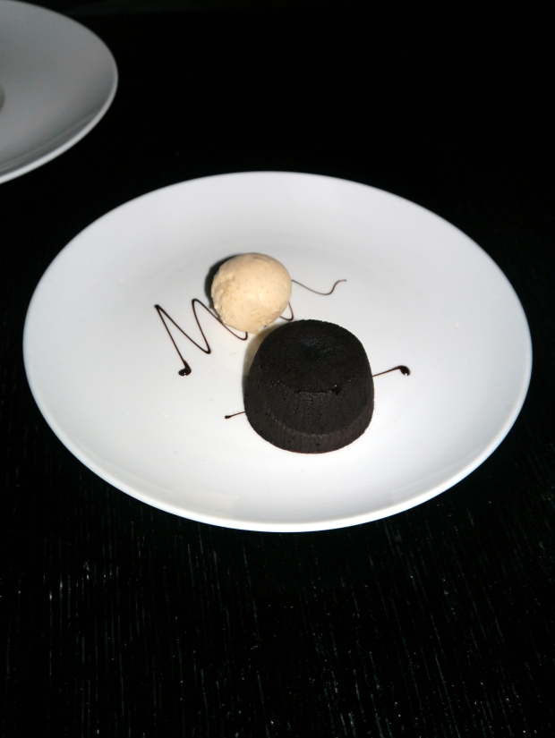 De-light-ful chocolate Fondant with vanilla icecream