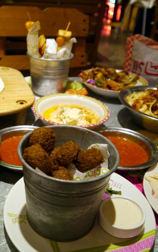 Falafel, hommus and halloumi...mmm