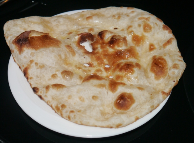 Delicious, hot and buttery naan