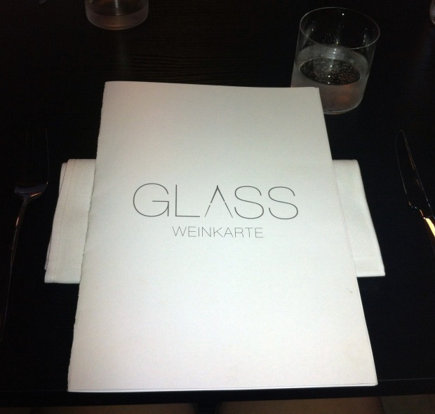 Glass; the menu