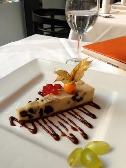 The raw plum and walnut dessert...yum!
