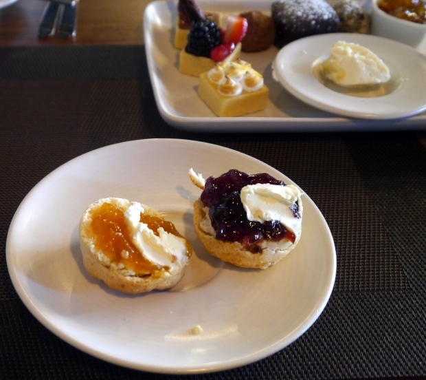 Yummy scones with jam AND cream, of course!
