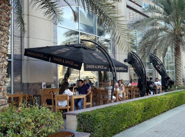 The terrace at the Marina Promenade branch