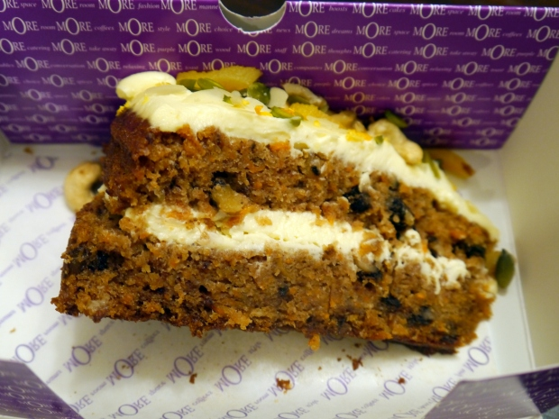 More Cafe's Carrot Cake effort, not the nuts on top