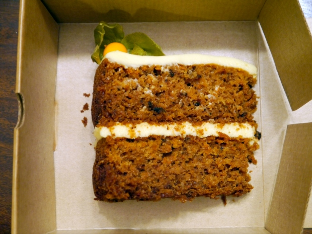 The Lime Tree Cafe's superb carrot cake