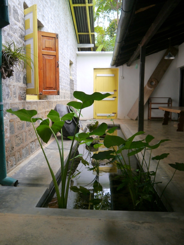 The courtyard at the bungalow