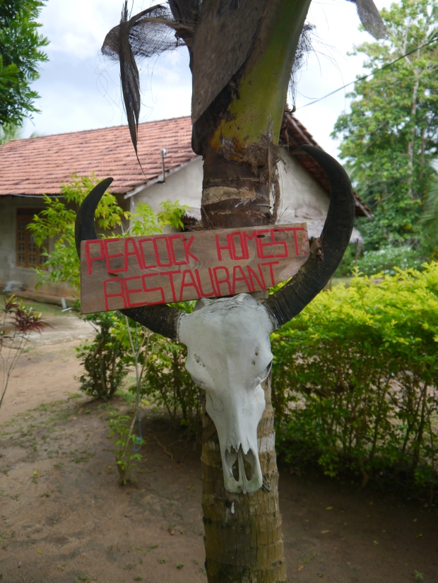 Welcoming sign to the homestay and restaurant