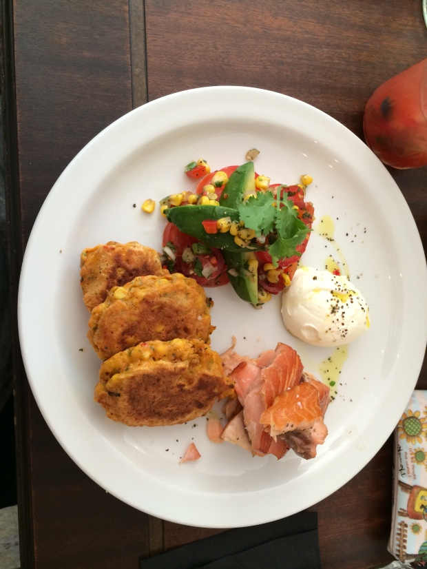 Corn Fritters with Kiln Smoked Salmon