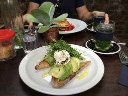 Sourdough toast with avocado & egg