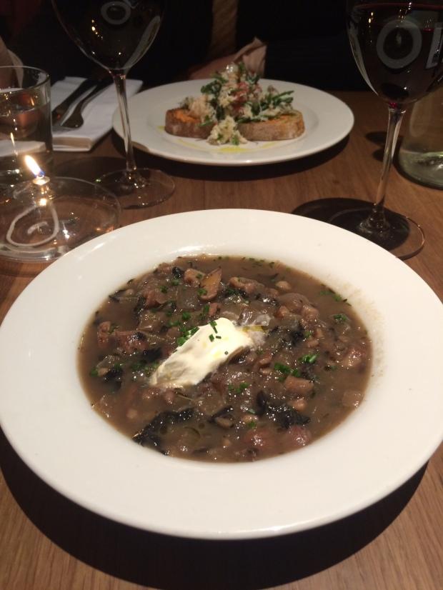 Chestnut & mushroom soup