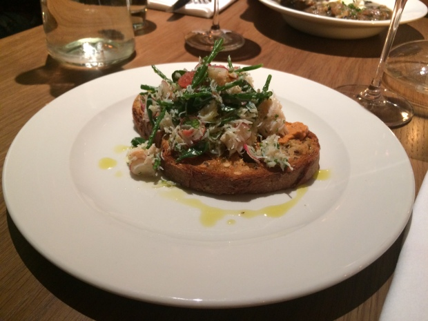 The Crab and grapefruit on toast