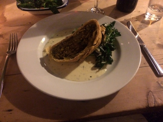 The delicious leek and barley veggie wellington
