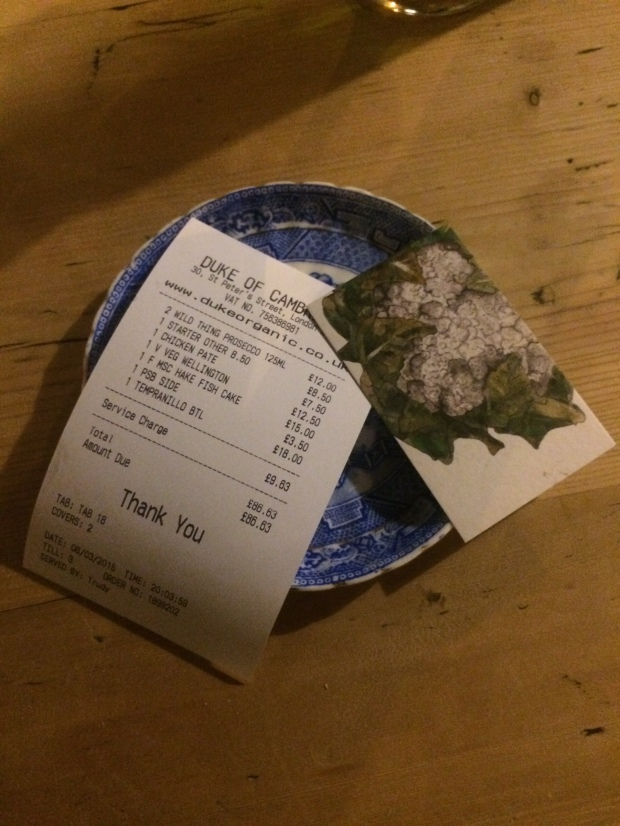 The bill for two