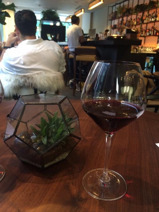 Nice big wine glass and mini terrarium
