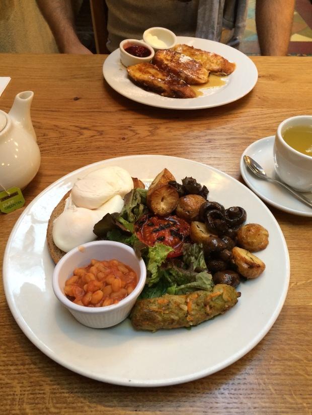 The breakfast veggie style