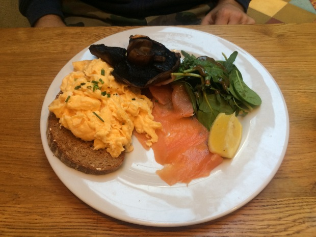 Scrambles and smoked salmon