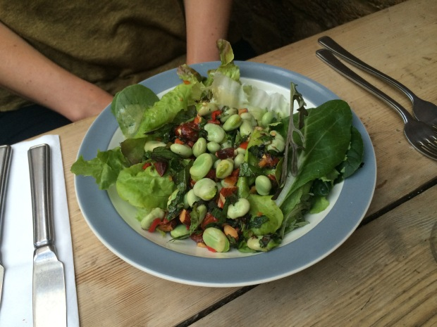 Broad bean salad