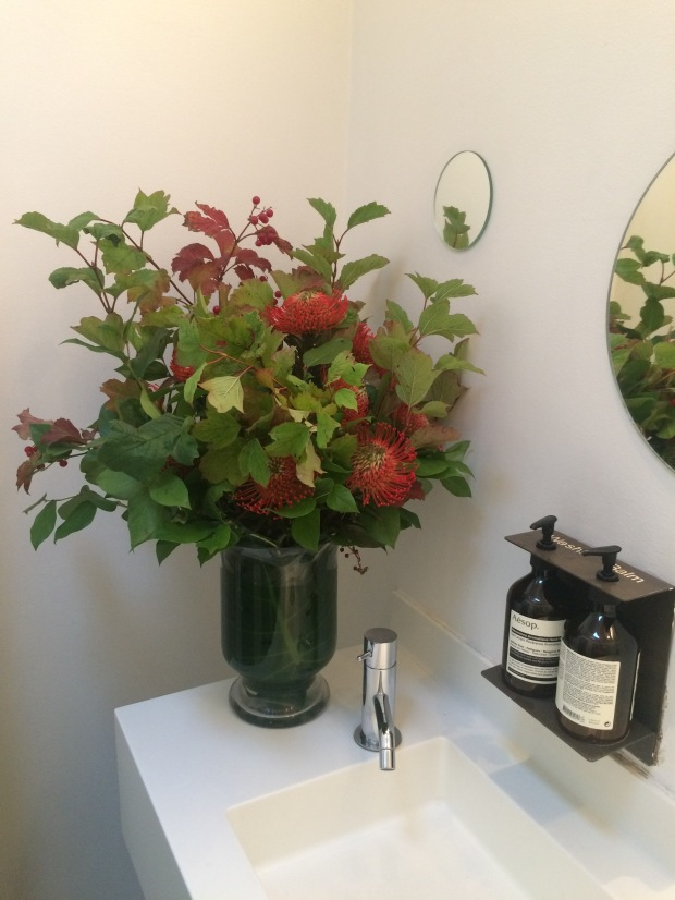 The flowers in the toilet, one of my many faves about Ottolenghi!