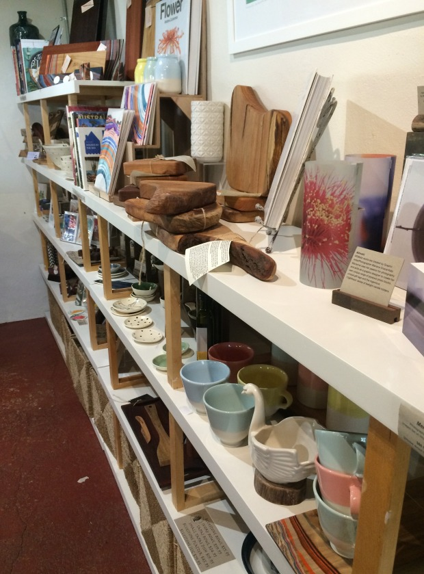 Shelves of hand crafted goodies