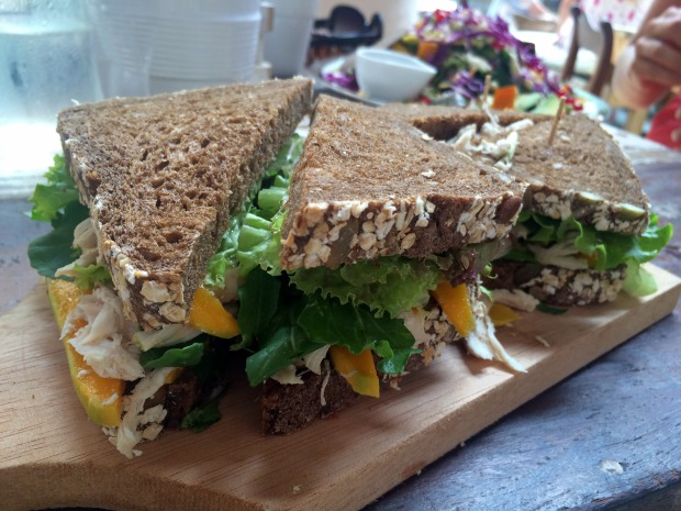 The chunky chicken and mango salad sandwich